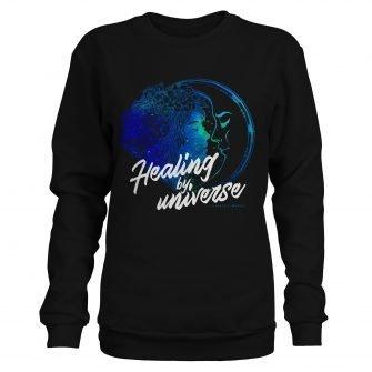 Crystal Sweatshirt NinaHerzberg INDAVID Black healingbyuniverse