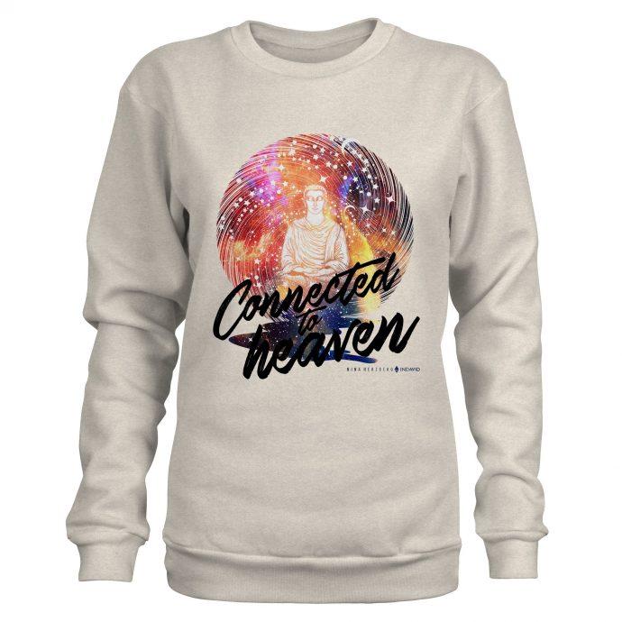Crystal Sweatshirt NinaHerzberg INDAVID CreamHeatherGrey connectedtoheaven 1