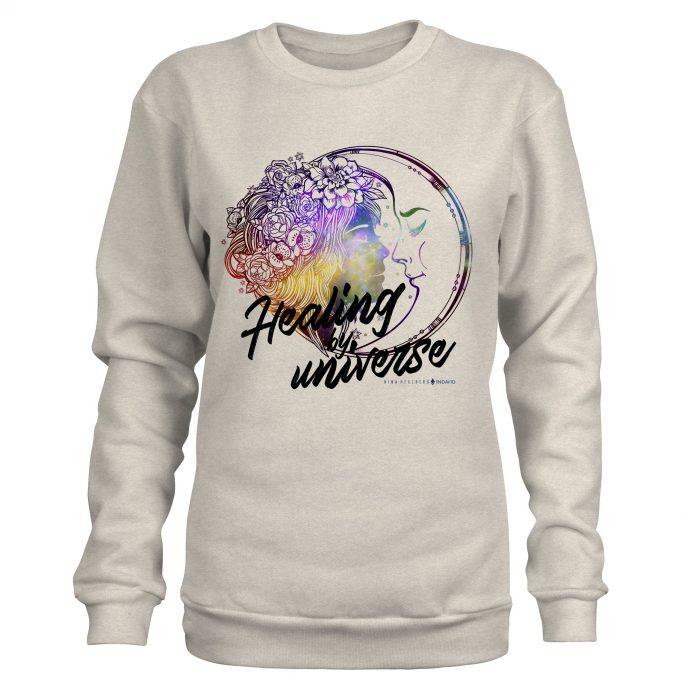 Crystal Sweatshirt NinaHerzberg INDAVID CreamHeatherGrey healingbyuniverse 1