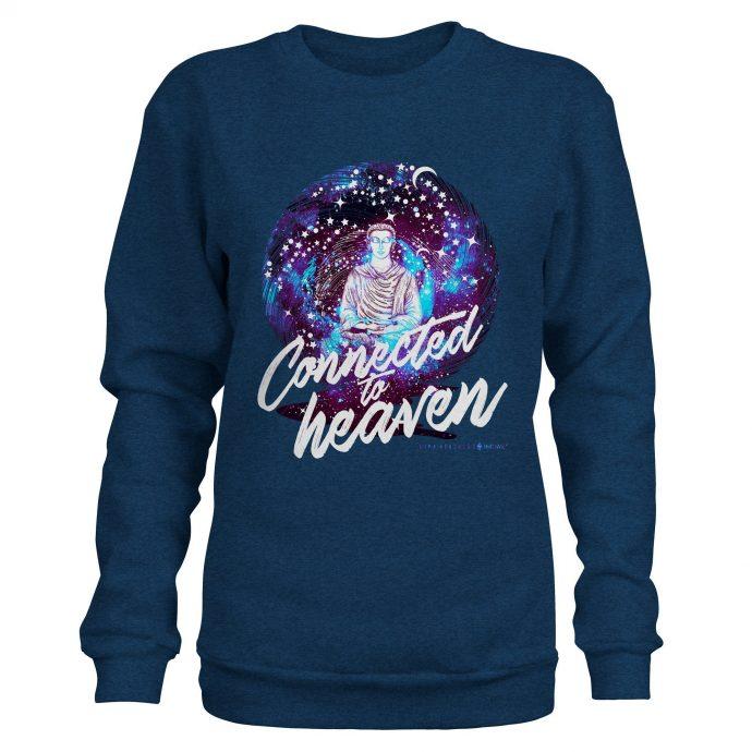 Crystal Sweatshirt NinaHerzberg INDAVID HeatherNavy connectedtoheaven