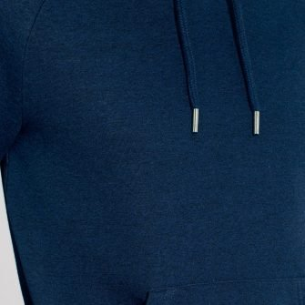 indavid hoodie HeaterNavy detail