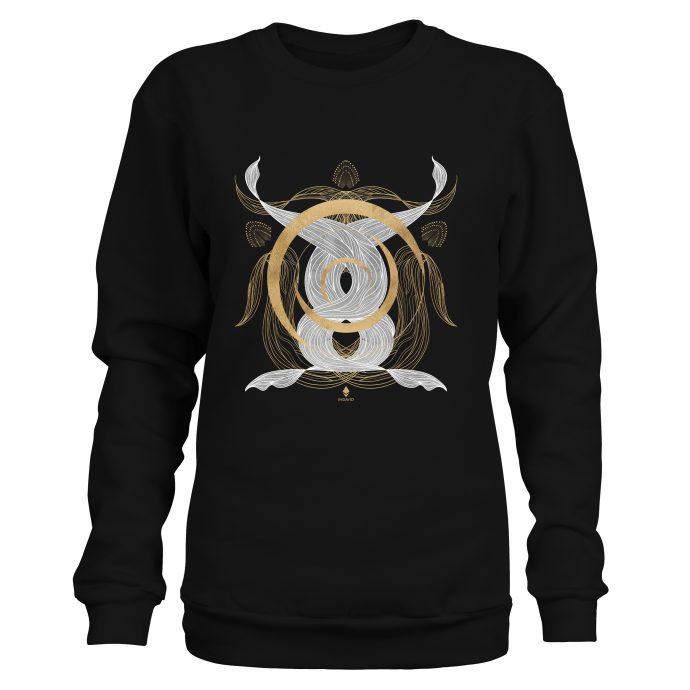 Crystal Sweatshirt Ancient Flow Black