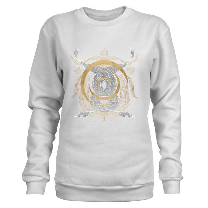Crystal Sweatshirt Ancient Flow White