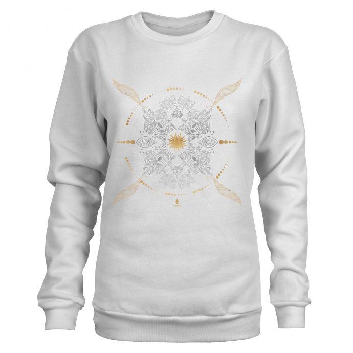 Crystal Sweatshirt Ancient Growth White