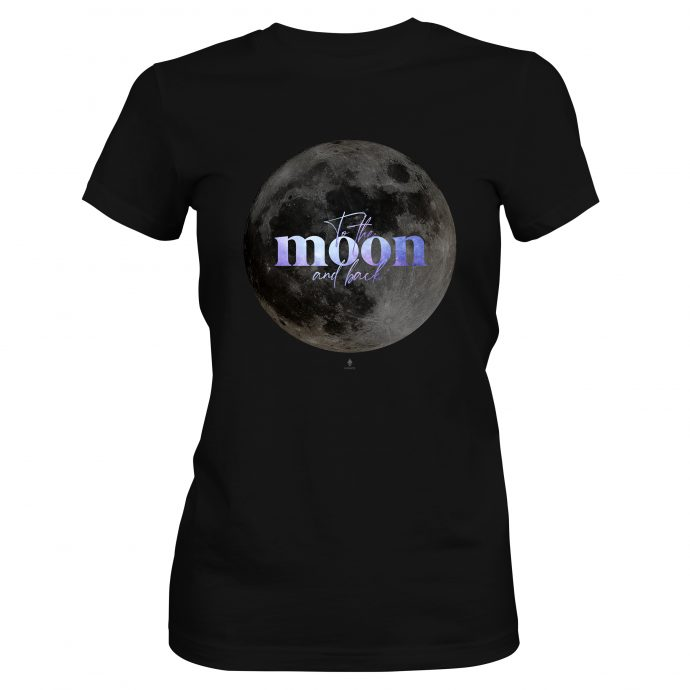 Crystal T Shirt To the moon and back