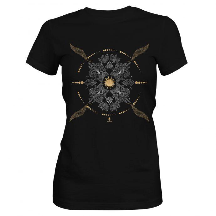 Crystal T Shirt Ancient Growth Black