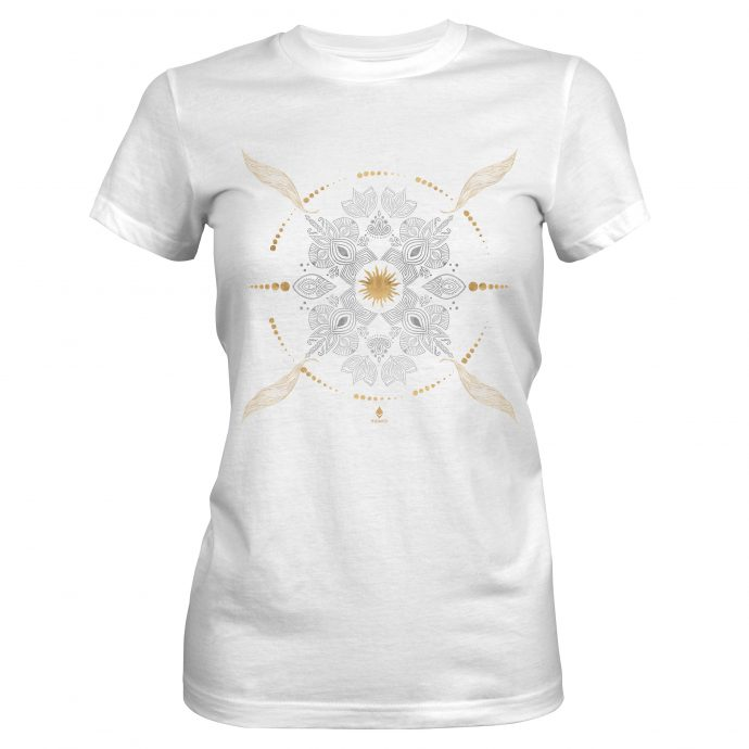 Crystal T Shirt Ancient Growth White