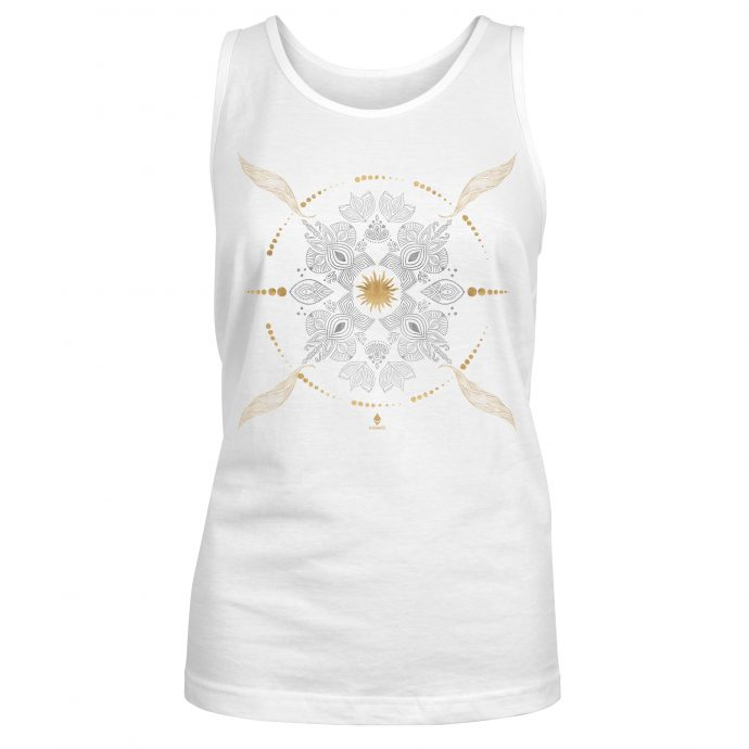 Crystal Tank Top Ancient Growth White