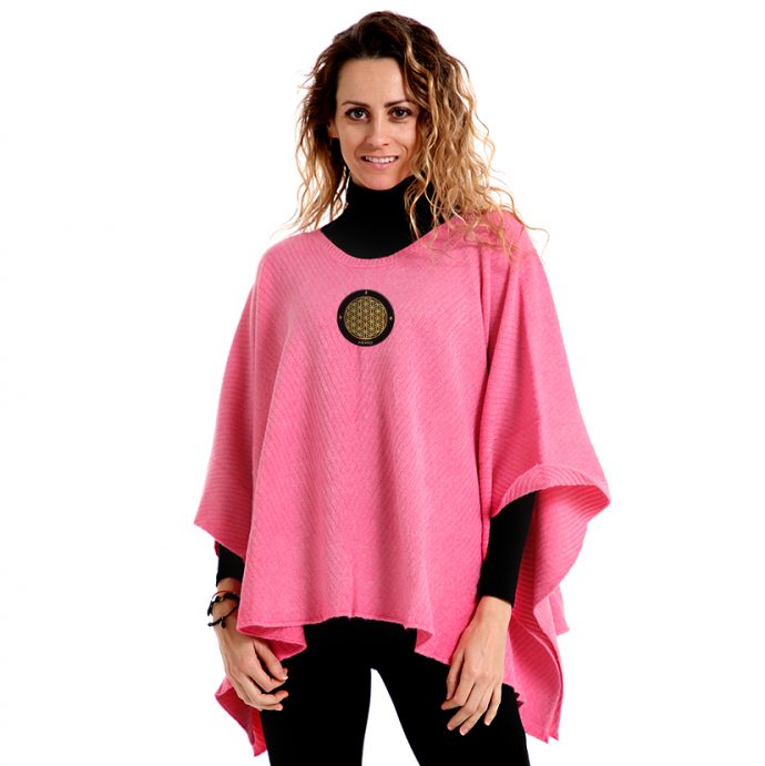 Crystal Poncho Four Pink
