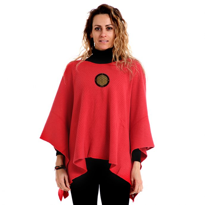 Crystal Poncho Four Red