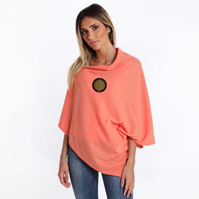 Crystal Poncho One Orange