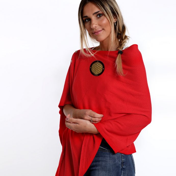 Crystal Poncho One Red