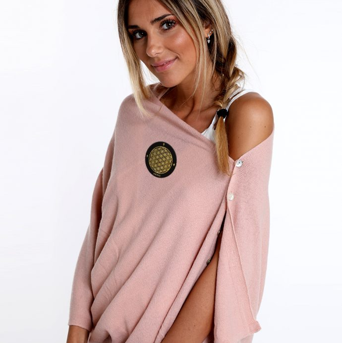 Crystal Poncho One Rose