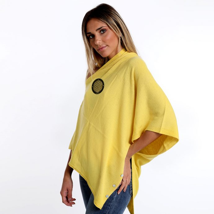 Crystal Poncho One Yellow