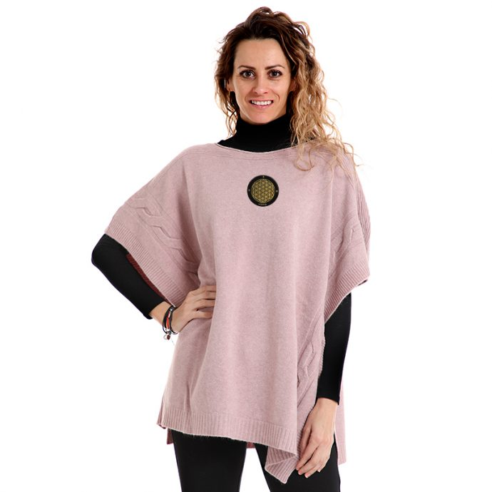 Crystal Poncho Two Rose