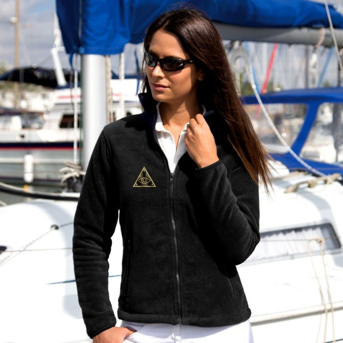 Crystal Fleece Jacke One Black Live
