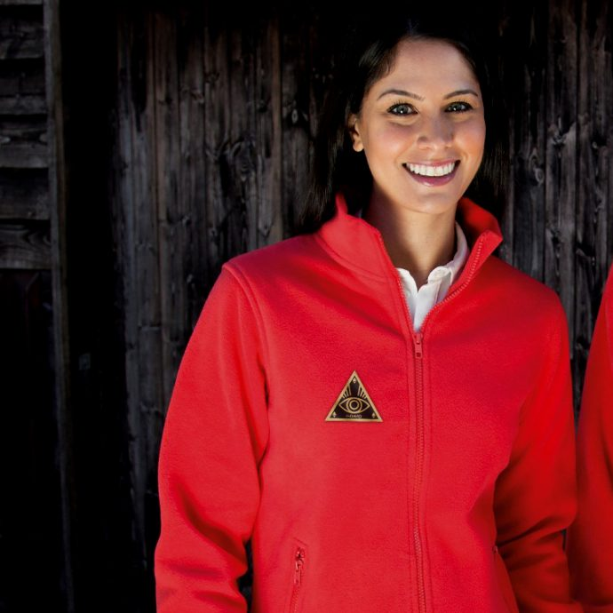 Crystal Fleece Jacke One Red Live