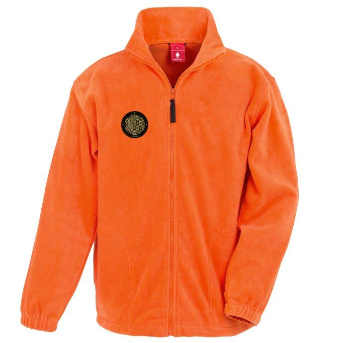 Crystal Fleece Jacke Two Orange