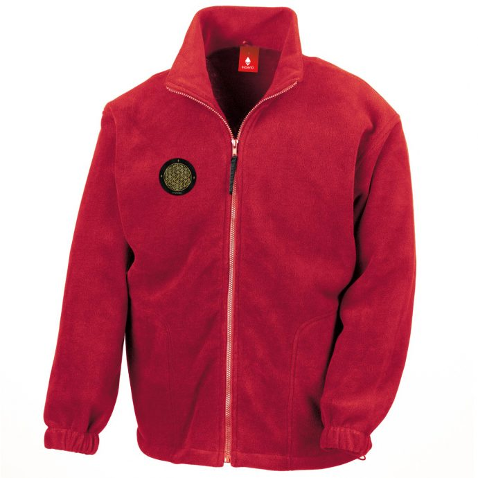 Crystal Fleece Jacke Two Red
