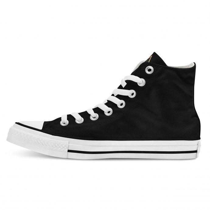 Crystal High Sneaker AllSeeingEye Black Side Left