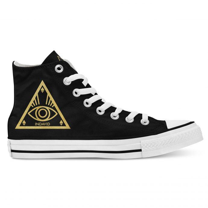 Crystal High Sneaker AllSeeingEye Black Side Right