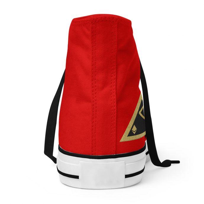 Crystal High Sneaker AllSeeingEye Red Back
