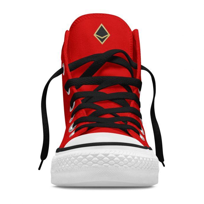 Crystal High Sneaker AllSeeingEye Red Front