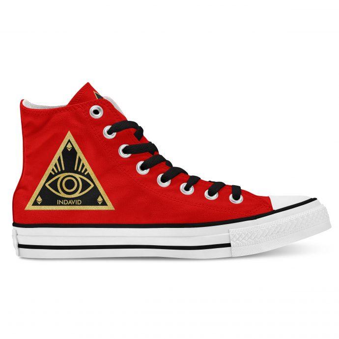 Crystal High Sneaker AllSeeingEye Red Side Right
