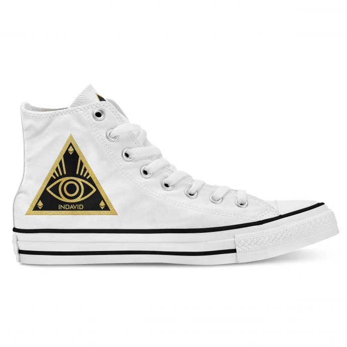 Crystal High Sneaker AllSeeingEye White Side Right