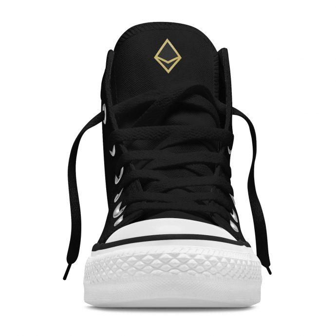 Crystal High Sneaker FlowerOfLife Black Front