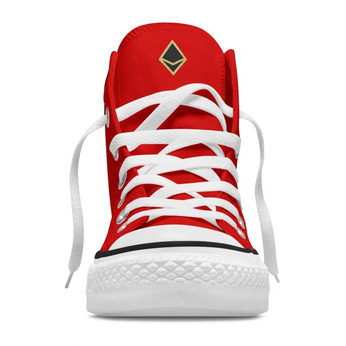 Crystal High Sneaker FlowerOfLife Red Front