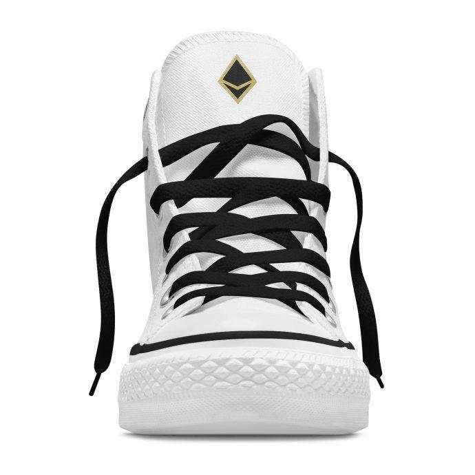 Crystal High Sneaker FlowerOfLife White Front