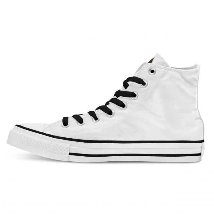 Crystal High Sneaker FlowerOfLife White Side Left