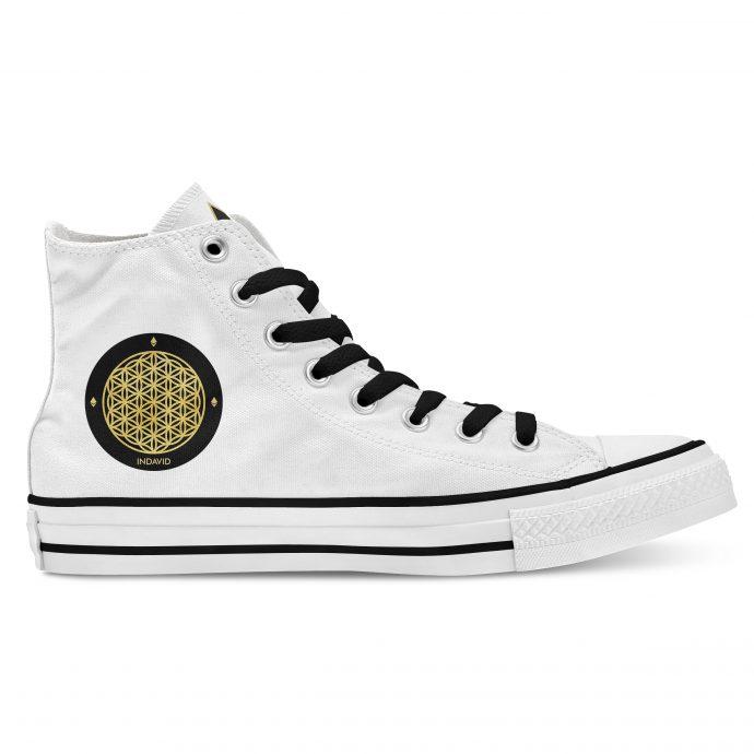 Crystal High Sneaker FlowerOfLife White Side Right