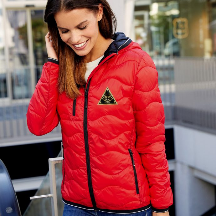 Crystal Stepp Jacke Two Red Live