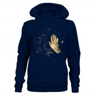 Crystal Hoodie Hands Navy