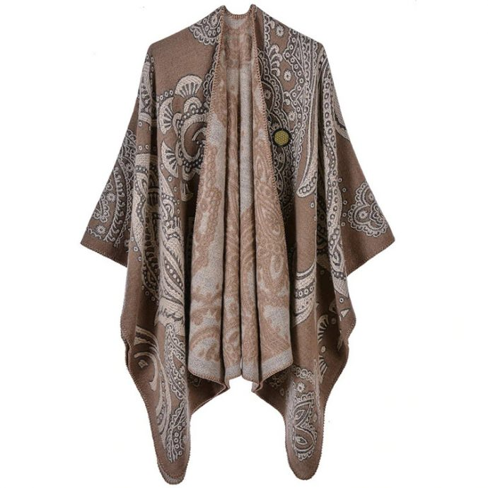 Crystal Poncho 11 Taupe