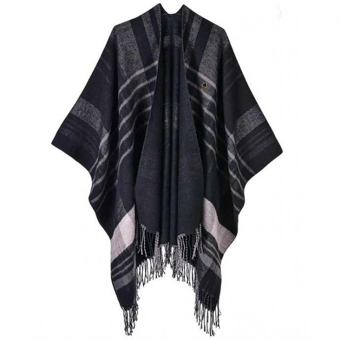 Crystal Poncho 12 Black