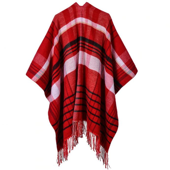 Crystal Poncho 12 Red