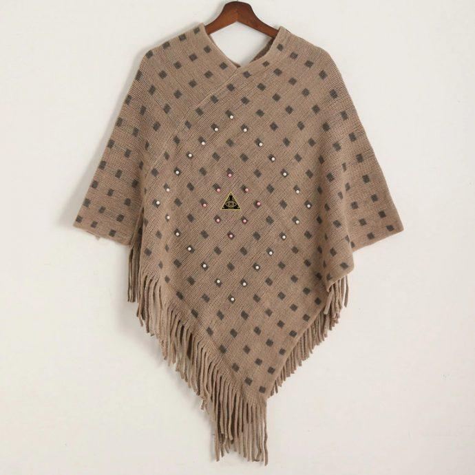 Crystal Poncho 14 Brown
