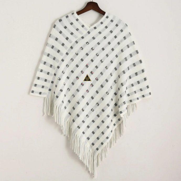 Crystal Poncho 14 White