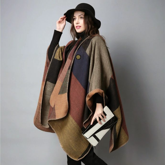 Crystal Poncho Eight Brown1