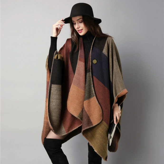 Crystal Poncho Eight Brown2