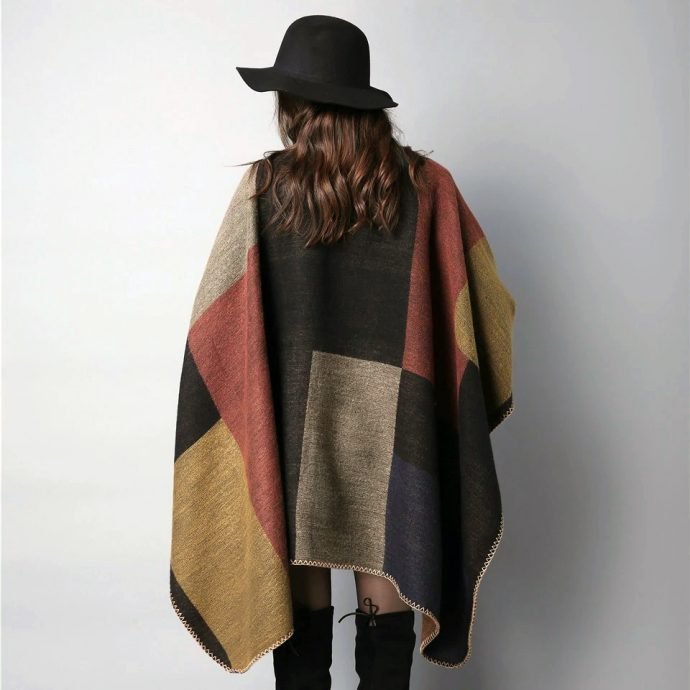 Crystal Poncho Eight Brown3