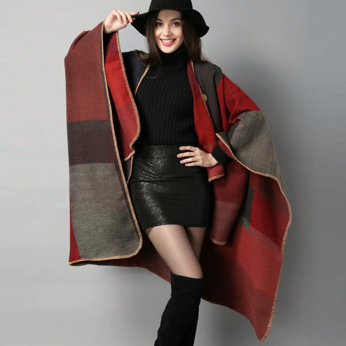 Crystal Poncho Eight Red1