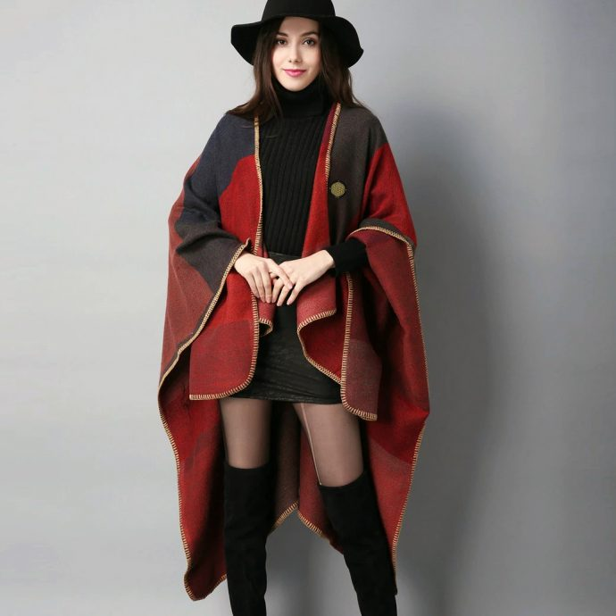 Crystal Poncho Eight Red2