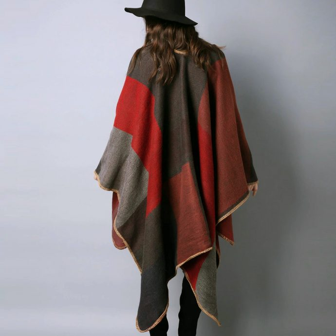 Crystal Poncho Eight Red3