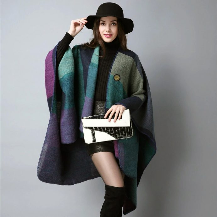 Crystal Poncho Eight Violet1