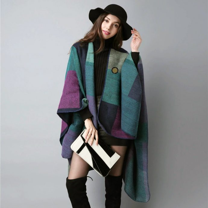Crystal Poncho Eight Violet2