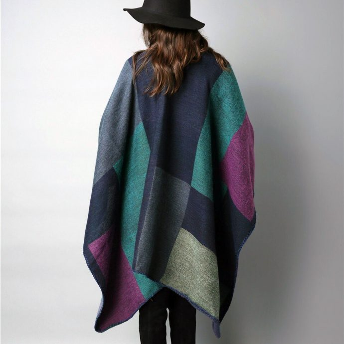 Crystal Poncho Eight Violet3